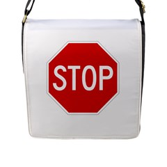 Stop Sign Flap Messenger Bag (l)  by Valentinaart