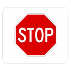 Stop Sign Double Sided Flano Blanket (small)  by Valentinaart