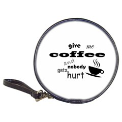 Give Me Coffee And Nobody Gets Hurt Classic 20 Cd Wallets by Valentinaart