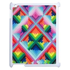 Rainbow Chem Trails Apple Ipad 2 Case (white) by Nexatart