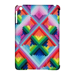 Rainbow Chem Trails Apple Ipad Mini Hardshell Case (compatible With Smart Cover) by Nexatart