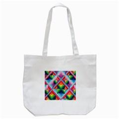 Rainbow Chem Trails Tote Bag (white) by Nexatart