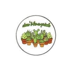 Cactus   Dont Be A Prick Hat Clip Ball Marker by Valentinaart