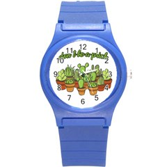 Cactus   Dont Be A Prick Round Plastic Sport Watch (s) by Valentinaart
