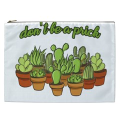Cactus   Dont Be A Prick Cosmetic Bag (xxl)  by Valentinaart