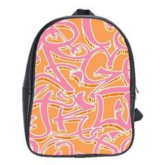 Abc Graffiti School Bags (xl)  by Nexatart