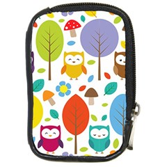 Cute Owl Compact Camera Cases by Nexatart