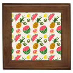 Fruits Pattern Framed Tiles by Nexatart