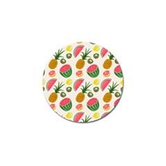 Fruits Pattern Golf Ball Marker by Nexatart