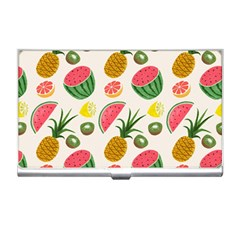 Fruits Pattern Business Card Holders by Nexatart
