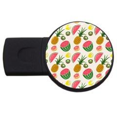 Fruits Pattern USB Flash Drive Round (2 GB) by Nexatart
