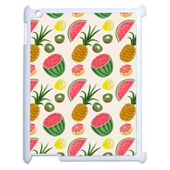 Fruits Pattern Apple Ipad 2 Case (white) by Nexatart