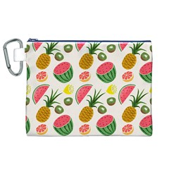 Fruits Pattern Canvas Cosmetic Bag (xl) by Nexatart
