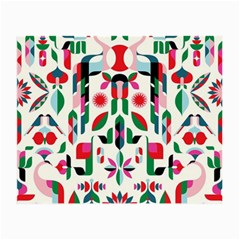 Abstract Peacock Small Glasses Cloth by Nexatart