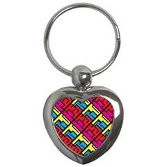 Hert Graffiti Pattern Key Chains (heart)  by Nexatart