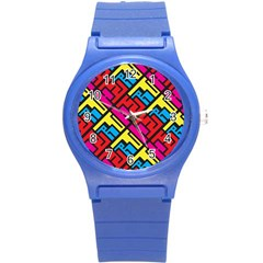 Hert Graffiti Pattern Round Plastic Sport Watch (s) by Nexatart
