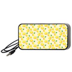 Lemons Pattern Portable Speaker (black) by Nexatart