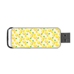 Lemons Pattern Portable Usb Flash (two Sides) by Nexatart