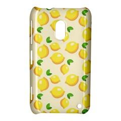 Lemons Pattern Nokia Lumia 620 by Nexatart