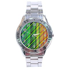 Patterns For Wallpaper Stainless Steel Analogue Watch by Nexatart