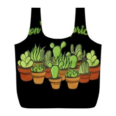Cactus   Dont Be A Prick Full Print Recycle Bags (l)  by Valentinaart