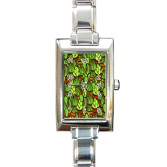Cactus Rectangle Italian Charm Watch by Valentinaart