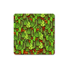 Cactus Square Magnet by Valentinaart