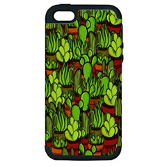 Cactus Apple Iphone 5 Hardshell Case (pc+silicone) by Valentinaart
