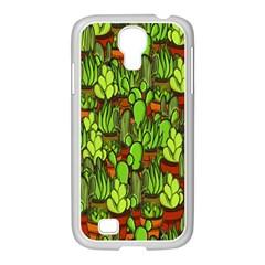 Cactus Samsung Galaxy S4 I9500/ I9505 Case (white) by Valentinaart