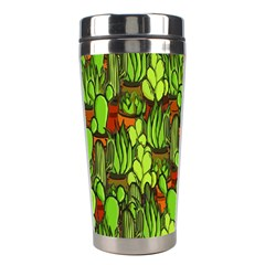 Cactus Stainless Steel Travel Tumblers by Valentinaart