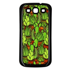 Cactus Samsung Galaxy S3 Back Case (black) by Valentinaart