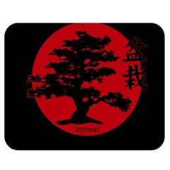Bonsai Double Sided Flano Blanket (medium)  by Valentinaart