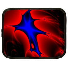 Space Red Blue Black Line Light Netbook Case (xl)  by Mariart