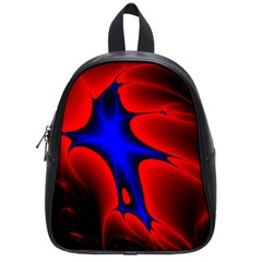Space Red Blue Black Line Light School Bags (small)  by Mariart
