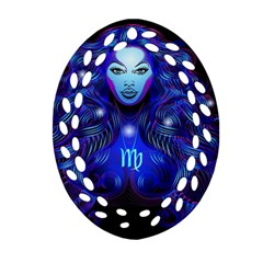 Sign Virgo Zodiac Ornament (oval Filigree) by Mariart
