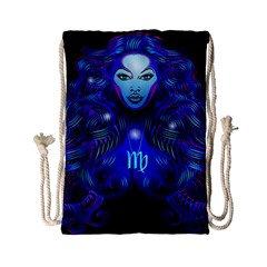 Sign Virgo Zodiac Drawstring Bag (small) by Mariart