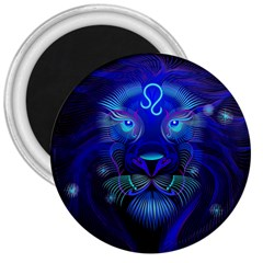 Sign Leo Zodiac 3  Magnets by Mariart