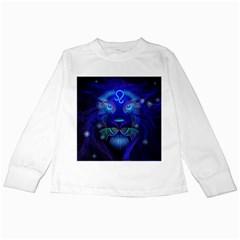 Sign Leo Zodiac Kids Long Sleeve T Shirts by Mariart