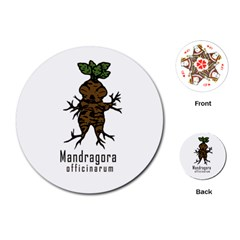 Mandrake Plant Playing Cards (round)  by Valentinaart