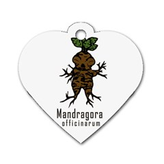 Mandrake Plant Dog Tag Heart (one Side) by Valentinaart