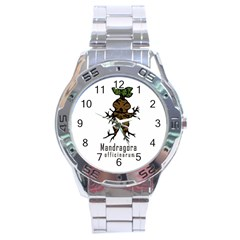 Mandrake Plant Stainless Steel Analogue Watch by Valentinaart