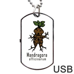 Mandrake Plant Dog Tag Usb Flash (one Side) by Valentinaart