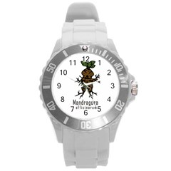 Mandrake Plant Round Plastic Sport Watch (l) by Valentinaart
