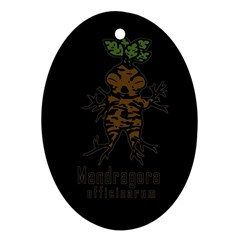 Mandrake Plant Ornament (oval) by Valentinaart