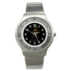 Mandrake Plant Stainless Steel Watch by Valentinaart