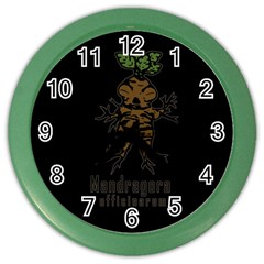 Mandrake Plant Color Wall Clocks by Valentinaart