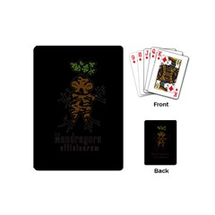 Mandrake Plant Playing Cards (mini)  by Valentinaart