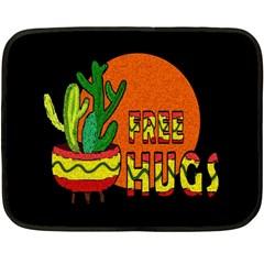 Cactus   Free Hugs Double Sided Fleece Blanket (mini)  by Valentinaart