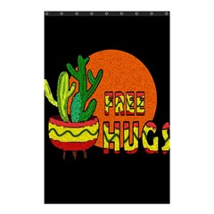 Cactus   Free Hugs Shower Curtain 48  X 72  (small)  by Valentinaart