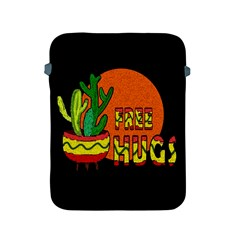 Cactus   Free Hugs Apple Ipad 2/3/4 Protective Soft Cases by Valentinaart